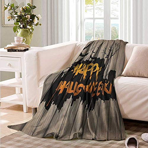 Oncegod Blanket Custom Photo Halloween Quote Bats Art Camping Throw,Office wrap 84