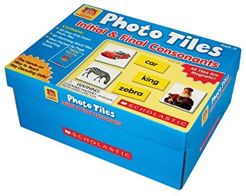 Scholastic Little Red Toolbox Photo Tiles Initial and Final Consonants Set