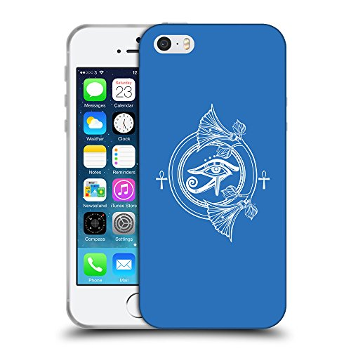 GoGoMobile Coque de Protection TPU Silicone Case pour // Q09960608 Religion 36 Azur // Apple iPhone 5 5S 5G SE