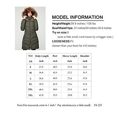 Escalier Women`s Down Jacket Winter Long Parka Coat With Raccoon Fur Hooded