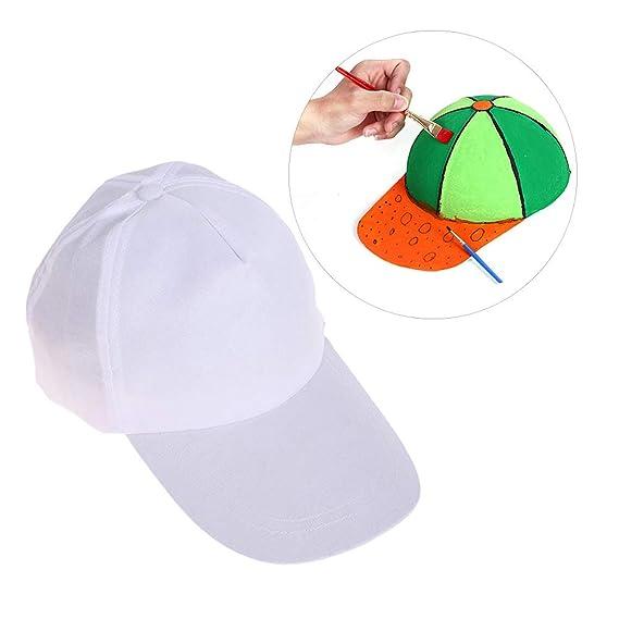 Healifty - 3 Gorros de béisbol para niños, Color Blanco, para ...