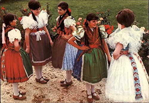 [Girls in Popular Costume Kapuvar, Hungary Original Vintage Postcard] (Girls 70s Costume)