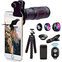 Apexel Telephoto Lens, 18X Zoom Lens + iPhone Tripod Kit...