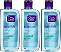 Clean & Clear Deep Cleaning Face Astringent, Sensitive Skin, 8 oz, 3 pk brought to you by Clean & Clear