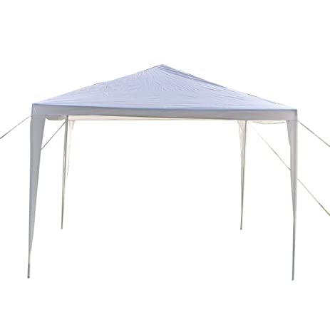 Amazon.com : GHP Durable White Polyethylene 10\' X 10\' Canopy w ...