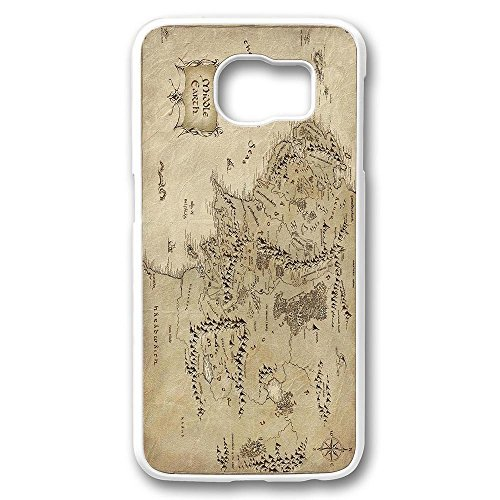 S6 Case, Galaxy S6 Case, Shock Proof White Hard Bumper Case for Samsung Galaxy S6 Middle Earth Map The Lord Of The Rings High Quality Hard Case Bumper for Samsung ()