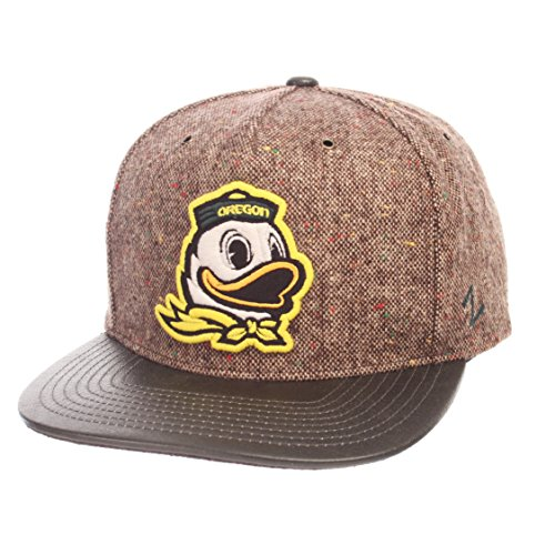 Zephyr NCAA Oregon Ducks Adult Men Legend Heritage Collection Hat, Adjustable, Tweed
