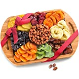 Golden State Fruit Dried Fruit and Nuts In Keepsake Bamboo Cutting Board Serving Tray with Handles