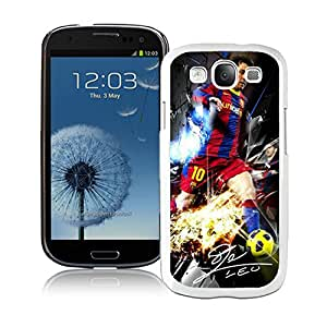 Soccer Player Lionel Messi 07 White Individual Custom Samsung Galaxy S3 I9300 Case