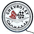 """Neonetics Corvette Flags Backlit LED Lighted Sign, 15"""""""