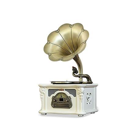 GOM Tocadiscos, Gramófono Retro con 3 Velocidades 33/45/78 ...