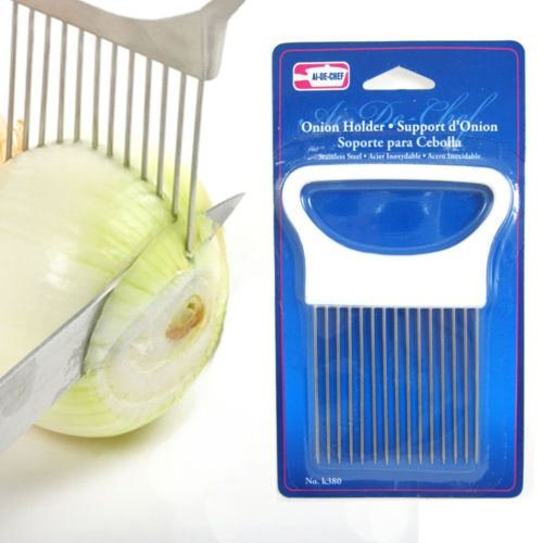 ADC-Onion Holder Slicing Guide-Tomatos Too-Quilling Tool-Stainless Steel Prongs by Kitchen Tools & Gadgets (Image #1)