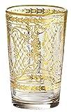 Rose's Glassware 14k Gold Decorative Wine 6 Ounce Italian Glassware Set (6)