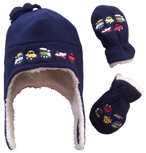 nice-caps-boys-sherpa-lined-micro-fleece-embroidered-hat-and-mitten-set-3-months-infant-navy