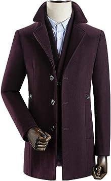冬のウールの厚手のトレンチコート、メンズウールの厚手のジャケット、ビジネスカジュアルのオーバーコート