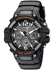 Casio Mens MCW-100H-1AVCF Heavy Duty Design Watch with Black Silicone Band Watch