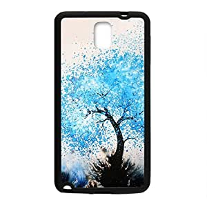 Blue Watercolor Tree Black Phone Case for Samsung Galaxy Note3