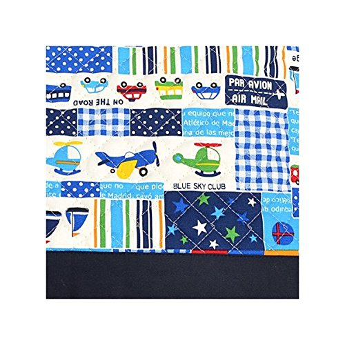 Being shaken Kids lesson bag of handmade sense to (quilting) Vehicles Happy Travel (navy) made in Japan N0225800 (japan import)