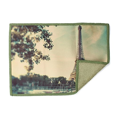 Smartie Microfiber Cleaning Cloth for Tablets, Screens, Lenses, and Glasses (Eiffel Tower Paris)