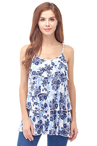 Bearsland Women's Maternity Nursing Tank Tops Sleeveless Breastfeeding Clothes,Newwhiteblue,L