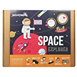 jackinthebox Art and Craft Science Kit for Kids - Space Explorer DIY Experiment Fun Kit for Children Ages 7-10, for Girls and Boys Learning Stem Toys (6-In-1)