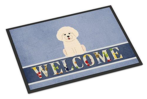 (Caroline's Treasures Bichon Frise Welcome Doormat 18 x 27 Multicolor)
