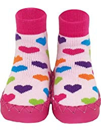 Konfetti Sweet Hearts Girls Swedish Slipper Sock Moccasins