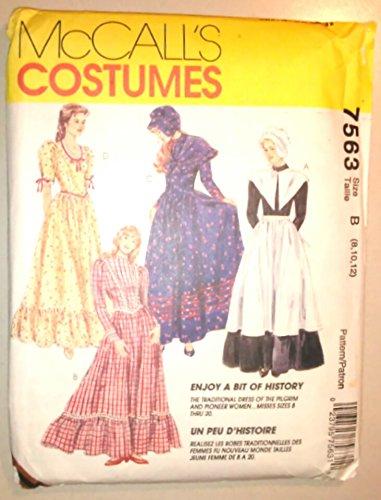 Thanksgiving Pilgrim History & Little House Pioneer Womens Halloween Costume 7563 (Halloween History Costumes)