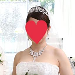 Amazon Claurys ティアラ ジュエリー ネックレス ピアス ウェディング 小物 3点セット 結婚式 パーティ イヤリング ネックレス 通販