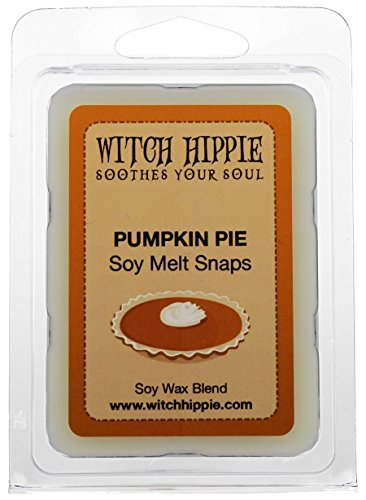 Pumpkin Pie Scented Wickless Candle Tarts, 6 Natural Soy Wax Cubes By Witch Hippie Soy Tart