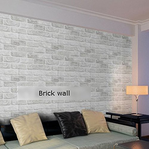 PaPafix Brick Wallpaper, Textured Removable and Waterproof for Home Design and Room Decoration, Super Large Size