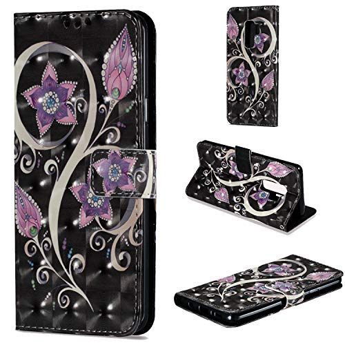 Galaxy S9 Plus Wallet Case Folio Style Stand Feature,XRPow Samsung Galaxy S9 Plus Card Case Protective PU Leather Flip Cover with Card Slot Pocket Magnetic Closure