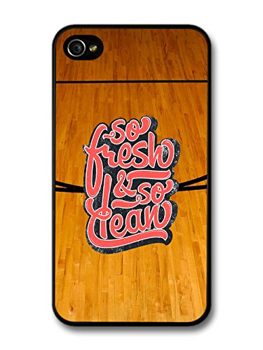 So Fresh and So Clean Quote on Basketball Court Design case for iPhone 4 4S