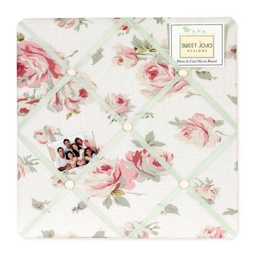 Riley's Roses Fabric Memory/Memo Photo Bulletin Board by Sweet Jojo Designs