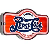 Drink Pepsi Cola - Reproduction Vintage Advertising Marquee Sign - Battery Powered LED Neon Style Light - 17 x 10 x 3 Inches
