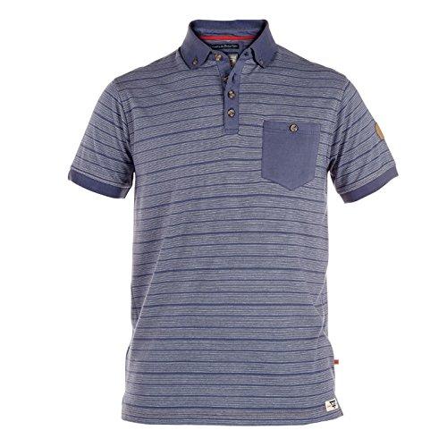 D555 Herren Poloshirt blau navy XX-Large
