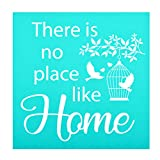 YeulionCraft DIY Self-Adhesive Silk Screen Printing Stencil, Phrase Sign Pattern for DIY Home Decor, T-Shirt, Pillow Fabric, Painting on Wood, Reusable Stencils, There-Home