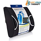 Vaunn Medical Lumbar Back Support Cushion Pillow with Warm/Cool Gel Pad and Removable