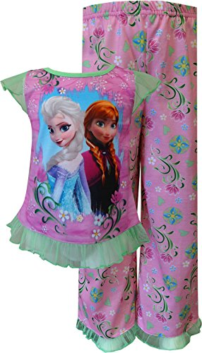 Disney Spring Princess (Disney Frozen Princesses Elsa and Anna Spring Garden Toddler Pajama for Little Girls (2T))