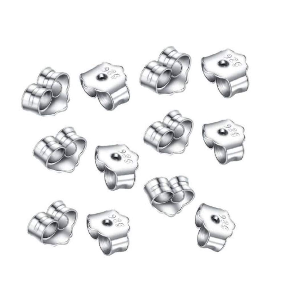 Beadaholique 12-Piece Sterling Earring Backs 5mm Silver by Beadaholique