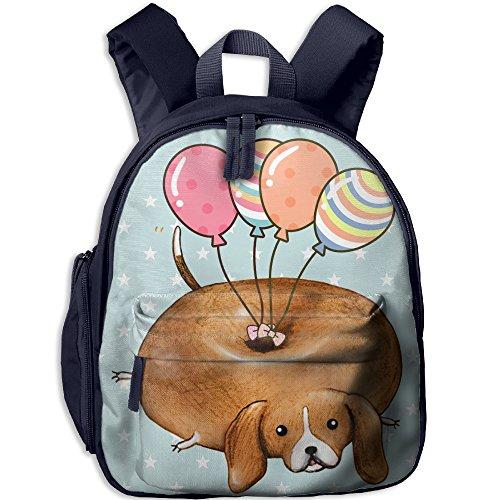 Funny Beagle Dog With Ballon Toddler Kids Backpack Preschool Backpack Navy Mini
