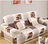 Cover Full Encircling Antiskid High Elasticity Spandex Stretch Sofa Flower Color Furniture Loveseat Slipcover(Style life)