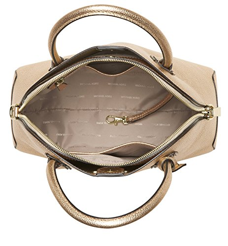 MICHAEL Michael Kors Studio Mercer Large Dome Satchel (Pale Gold)