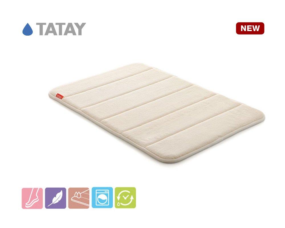 Tatay Nuvola - Bathroom rug, Polyester, Beige, 40x3x60 cm 5513000