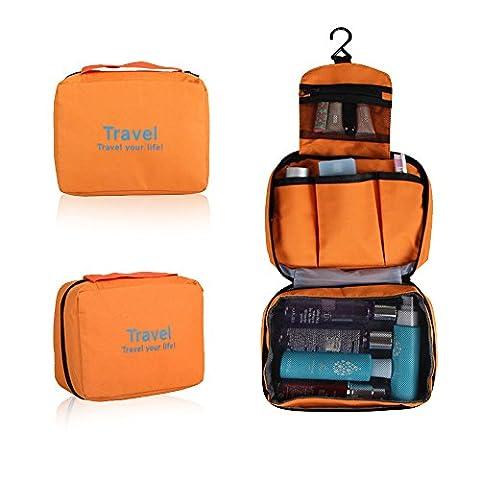 Refoss Cosmetic Storage Bag, Hanging Travel Toiletry Kit Organizer as Women Makeup or Men Shaving (Auricolari Mani Auricolare Kit Libero)