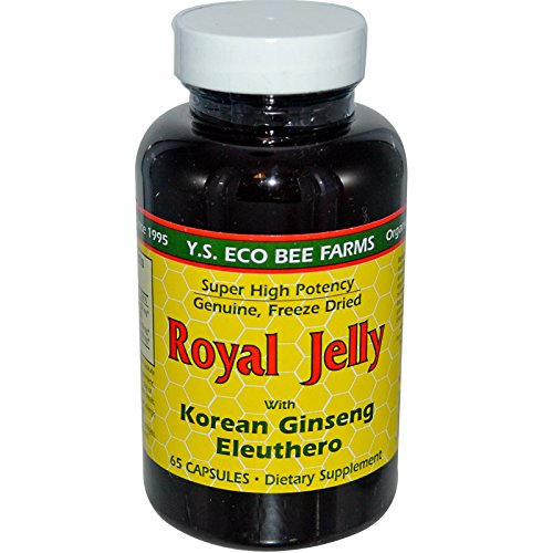 Y.S. Eco Bee Farms, Royal Jelly, with Korean Ginseng Eleuthero, 65 Capsules - 2pc