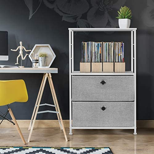 home, kitchen, furniture, bedroom furniture,  nightstands 6 picture Sorbus Nightstand 2-Drawer Shelf Storage - Bedside Furniture promotion