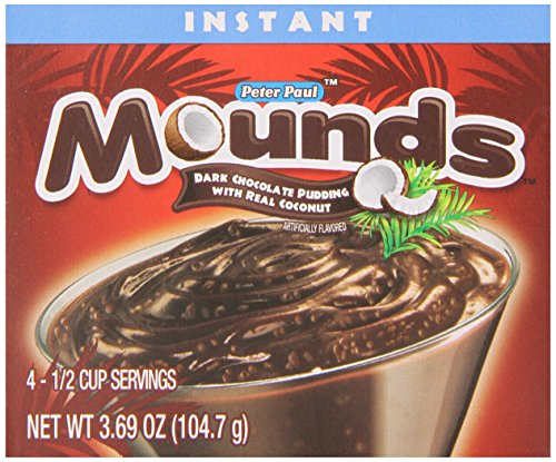 (Mounds Instant Pudding Dessert Mix, Made with Real Dark Chocolate and Coconut (12 - 3.69 oz Boxes) )