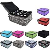 pureGLO Essential Oil Case to Protect Your Precious Oils - Holds 30 Bottles (5ml, 10ml & 15ml) - Perfect for Travel or Storage (Grid)