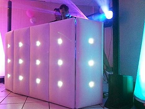 Cabina de DJ puntadas LEDs Prestige (color blanco): Amazon.es: Instrumentos musicales